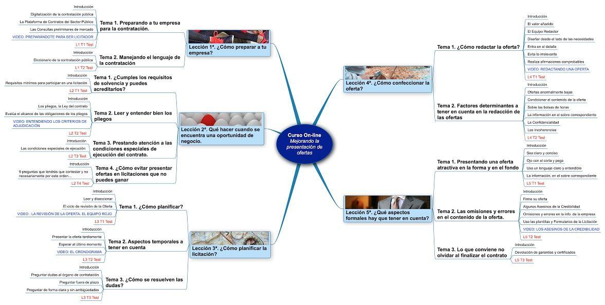 Infografía del contenido del curso